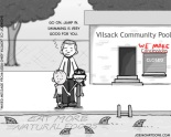 Mixed message from USDA chief Vilsack [cartoon]