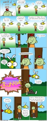 Hank D and the Bee:Share Your Apples