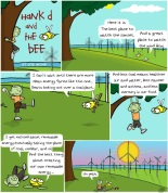 Hank D and the Bee: Solar+Wind=____