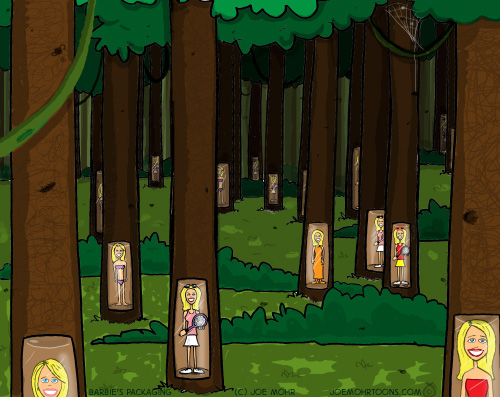 Barbie and Forests Cartoon