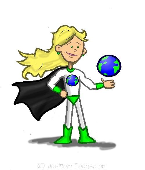 Green Hero Joe Mohr S Cartoon Archive