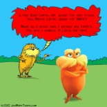 Book Lorax Fires Back at Movie Lorax!