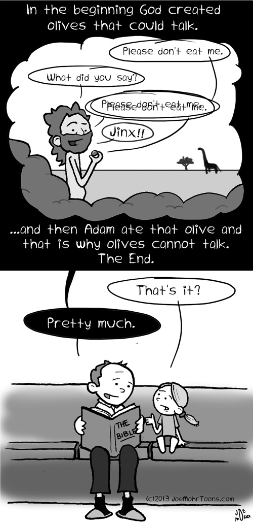 The Bible: All summed up in one short cartoon.