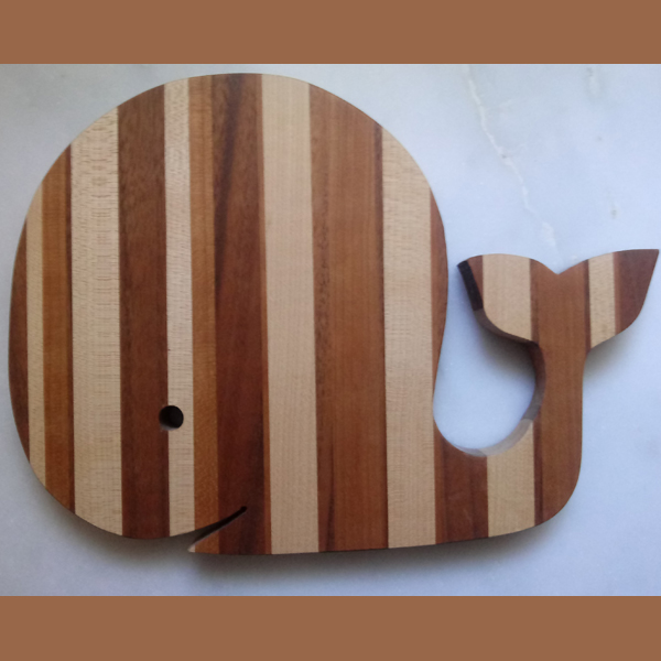 Happy Whale cutting board